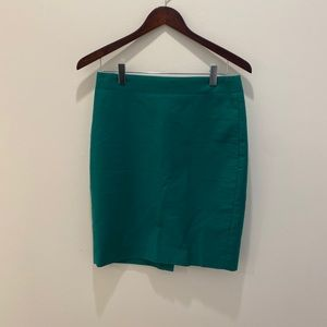 J crew Green Pencil Skirt Size 2